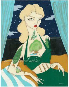 """""""The Benefits of Shakespeare""""  acrylic on masonite  c Amanda Laurel Atkins 2011"""