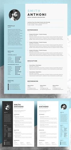 Here is the list of best selling Resume Templates. Best of simple clean and professional Resume Templates best for any job opportunity and help to inspire your future boss. Functional Resume Template, One Page Resume Template, Modern Resume Template, Creative Resume Templates, Creative Resume Design, Free Cv Template, Indesign Resume Template, Cv Design Template, Web Design
