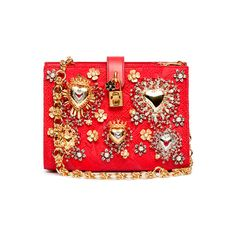 Dolce & Gabbana's Spring/Summer 2015 Accessories Collection | Fashion... ❤ liked on Polyvore featuring bags, red bag and summer bags
