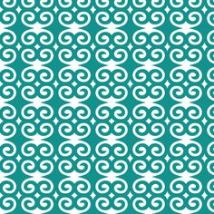Teal Swirl fabric by gaiagroove on Spoonflower - custom fabric