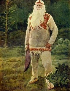 Väinämöinen with his kantele (What? Central character in the Finnish folklore and the main character in the national epic Kalevala. He's known to the FBI/NSA. Even ISIL don't want him in their fan group. Russian Folk, Russian Art, My Heritage, Gods And Goddesses, Folklore, Vikings, Fairy Tales, Old Things, History