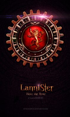 House Lannister ~ Game of Thrones Fan Art by Jie Feng