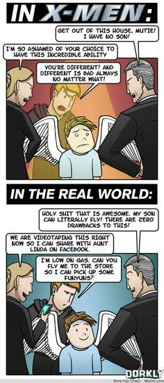 x men vs real life dorkly comic