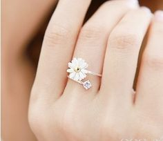 Lovely Small Chrysanthemum Flower Ring (2.69)