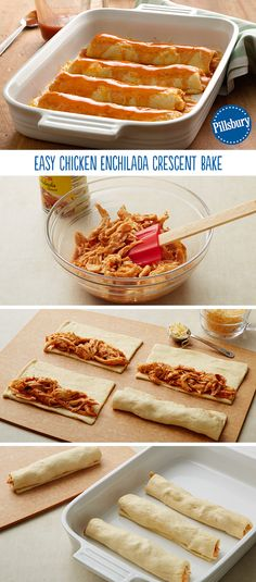 Get those kids in the kitchen with this easy recipe! Chicken Enchilada Crescent Bake has everything you'd want in a Mexican night and more. The best part? Only four ingredients!