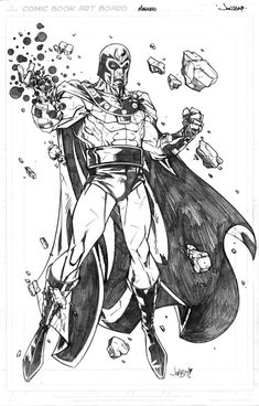 Magneto, in Jonboy Meyers's Covers, Pinups and Commissions Comic Art Gallery Room Comic Book Artists, Comic Book Heroes, Comic Artist, Comic Books Art, Marvel Villains, Marvel Comics Art, Marvel Characters, Comic Character, Character Design