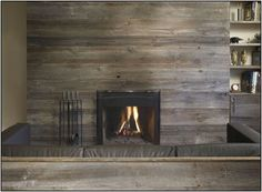 Gallery For > Reclaimed Wood Fireplace Surround