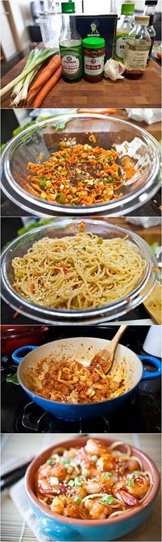 Chilled Spicy Sesame Noodles with Shrimp Recipe
