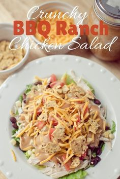 Simple Dinners: Crunchy BBQ Ranch Chicken Salad!