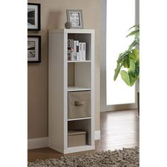 Better Homes and Gardens 4-Cube Organizer with Optional Storage Bins, Multiple Options: Furniture : Walmart.com