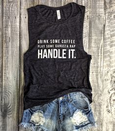 HANDLE IT Muscle Tee in Charcoal/White Workout Top by everfitte