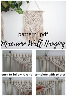 macrame plant hanger+macrame+macrame wall hanging+macrame patterns+macrame projects+macrame diy+macrame knots+macrame plant hanger diy+TWOME I Macrame & Natural Dyer Maker & Educator+MangoAndMore macrame studio Macrame Wall Hanging Patterns, Crochet Wall Hangings, Large Macrame Wall Hanging, Yarn Wall Hanging, Macrame Wall Hanger, Diy Adornos, Free Macrame Patterns, Macrame Design, Macrame Projects