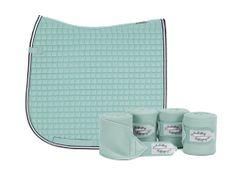 Eskadron Limited Edition Dressage Saddlecloth & Fleece Bandages Set - Ice Blue , love this set !