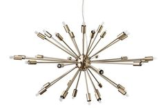Vela Pendant Lamp, Antique Brass