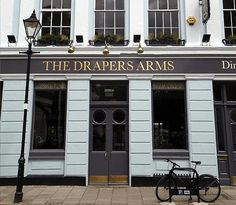 The Drapers Arms in Islington. Voted in top 50 gastropubs in the UK