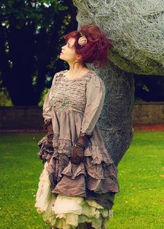 Helena Bonham Carters fashion is so wacky! Love it