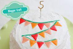 Airheads banner cake.     Original craft from http://sayyestohoboken.com/