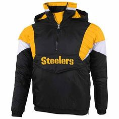 Girls Youth Pittsburgh Steelers 5th & Ocean by New Era Black Cutest Fan Tri-Blend Pullover Hoodie