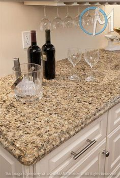 Supreme Kitchen Remodeling Choosing Your New Kitchen Countertops Ideas. Mind Blowing Kitchen Remodeling Choosing Your New Kitchen Countertops Ideas. Brown Granite Countertops, Outdoor Kitchen Countertops, Kitchen Countertop Materials, Kitchen Cabinets, Refacing Cabinets, Countertop Options, Light Granite, White Bathroom Cabinets, Corner Cabinets