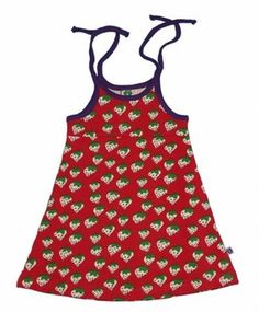 Smafolk dress with strawberries