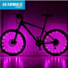 Leadbike Bicycle Light 20 LED Colorful Waterproof MTB Road Cycling Bike Signal Tire Wheel Spoke