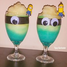 One in a Minion Cocktail - For more delicious recipes and drinks, visit us here: www.tipsybartender.com