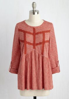 Brick red top - lovely for end-of-summer...