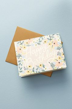 Slide View: 1: Floral Birthday Card