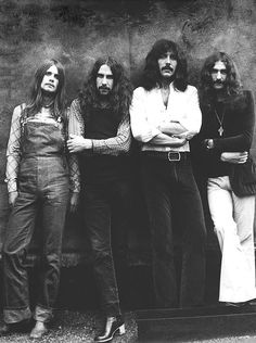 Black Sabbath, in the days when overalls were considered scary and satanic. Photo by Bob Gruen, New York City, 1971.