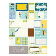 Project Life Themed Cards 60 Pack - Family   Hobbycraft #projectlife #scrapbooking #makingmemories #hobbycraft #papercraft
