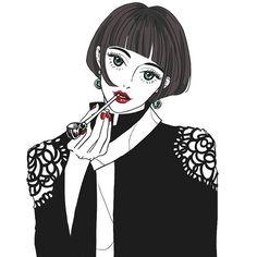 오늘의 #낙서#그림#색칠#일러스트#illustration#drawing#イラスト#sketch#ink Manga Drawing, Drawing Sketches, Drawings, Character Illustration, Illustration Art, Manga Characters, Poses, Anime Artwork, Illustrations