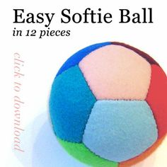 Basic Geometry - Free Easy Softie Ball pattern (in 12 pieces - PDF)