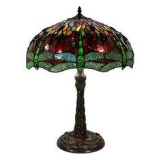 Warehouse of Tiffany Dragonfly Mosaic Table Lamp