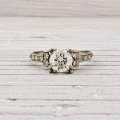 .92 Old European Cut Art Deco Diamond Engagement Ring | New York Vintage & Antique Estate Jewelry – Erstwhile Jewelry Co NY
