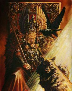 Odin They say in the Grant Clan history, that I have read we are kin to Odin. We came to Scotland as Vikings.