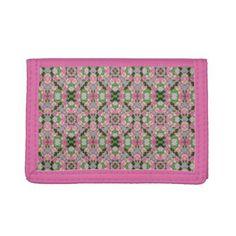 Yellow-Striped Pink Mandala Woman's Wallet - chic design idea diy elegant beautiful stylish modern exclusive trendy