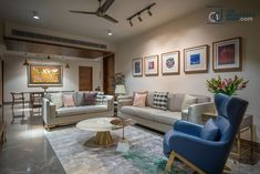 The Home For An Industrialist In Hyderabad Indian Home Design, Indian Home Interior, Flat Interior, Indian Home Decor, Apartment Interior Design, Bathroom Interior Design, Interior Colors, Living Room Designs India, Beautiful Houses Interior
