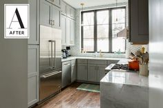 Before and After: A Dark, Dated Kitchen's Beautiful Update | Apartment Therapy