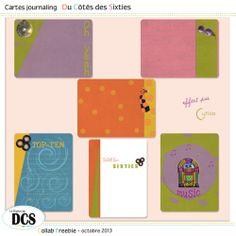 FREE DCS et les Cartes journaling des Sixties