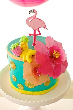 Fruity Flamingo Cake | Featured on The TomKat Studio