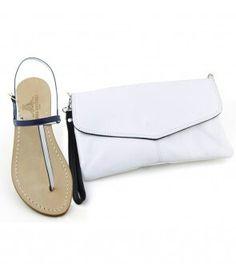 Una selezione di sandali gioiello coordinati con pratiche e morbide pochette in pelle interamente fatti a mano naturalmente made in Dea Sandals Capri. Scopri su www.deasandals.com la sezione coordinati.
