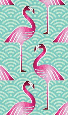 Pink Flamingo Wallpaper, Flamingo Fabric, Flamingo Art, Flamingo Pattern, Pink Flamingos, Textures Patterns, Fabric Patterns, Print Patterns, Pattern Print