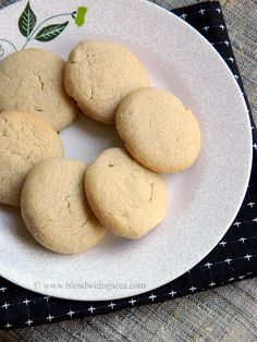Whole Wheat Cashew Butter Cookies ~ Eggless Cookie Recipes | Indian Cuisine