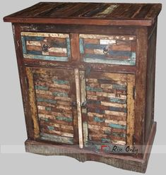 Must check Dark Wooden Sideboards, Recycled Antique Sideboard, Reclaimed Sideboard at Rise Only. Antique Sideboard, Sideboard Furniture, Wood Sideboard, Antique Doors, Buy Reclaimed Wood, Recycled Wood Furniture, Vintage Chest Of Drawers, Wood Chest, Decorating Coffee Tables
