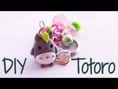 Kawaii Totoro keychain polymer clay charm tutorial