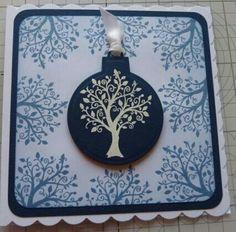 Inspired by Barbara Gray using Spellbinders Nestabilities 2013 Heirloom Ornament