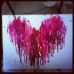 Image detail for -heart crayons melted crayons crayon wax pink red awesomeness