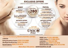 May Promotions for Medical aesthetic treatments for face and body only £280