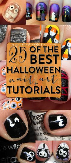 25 Of The Best Halloween Nail Art + Tutorials I am so doing this