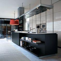 OPEN DISPLAY SHELVING - Varenna by Poliform Matrix Kitchen Cabinetry